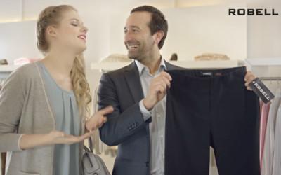 Nieuwe reclame voor de Robell broek – Ich bin Bella!