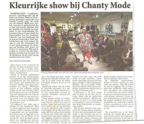 Kleurrijke show bij Chanty Mode